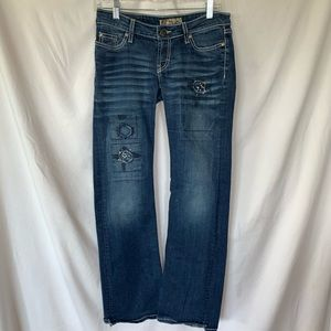 BKE Stella Jeans womens size 26 flared distressed